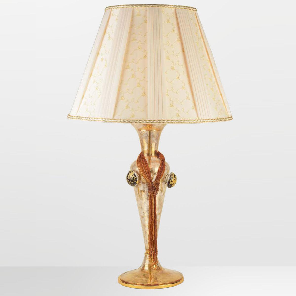 """""""Tyra"""" lampara de sobremesa de Murano - 1 luce - oro"""