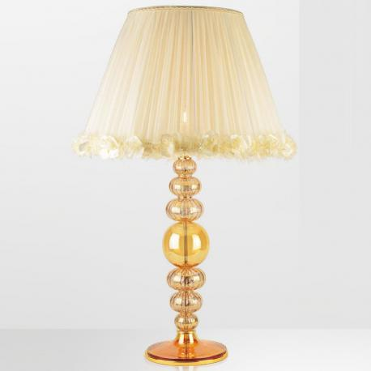"""""""Shayaan"""" lampe de table en verre de Murano - 1 lumière - ambre"""