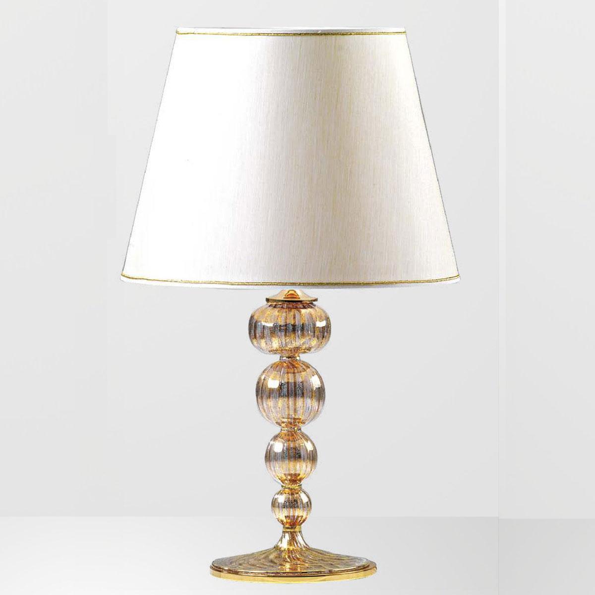 """Alayah"" lampara de sobremesa de Murano - 1 luce - oro"