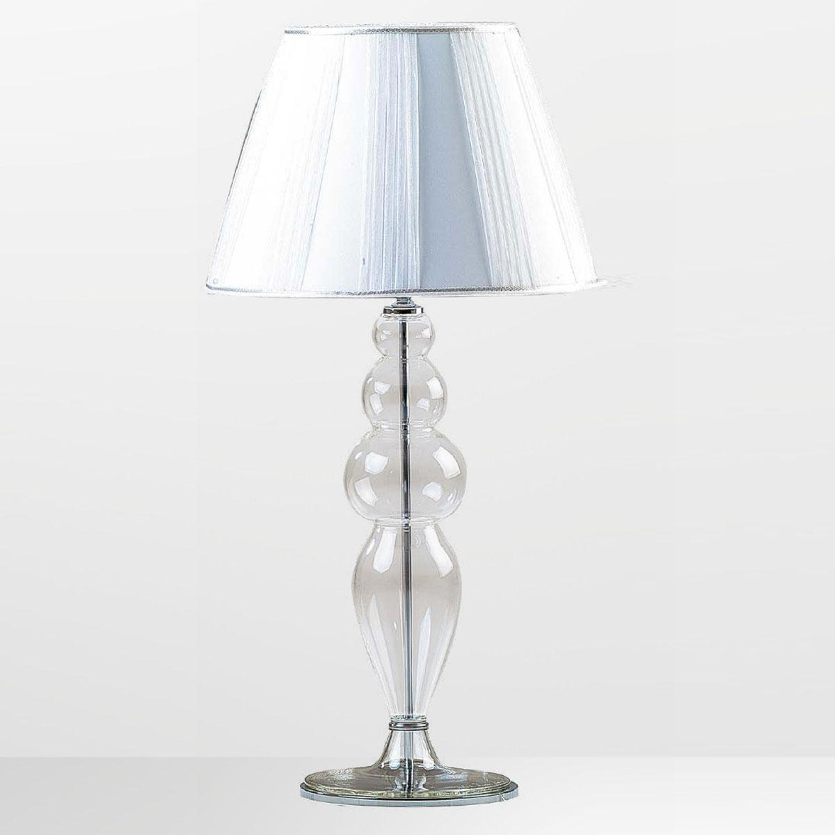 """""""Claire"""" lampe de table en verre de Murano - 1 lumière - transparent"""