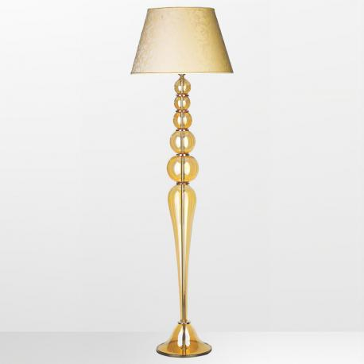 """Claire"" Murano glass floor lamp - 1 light - amber"