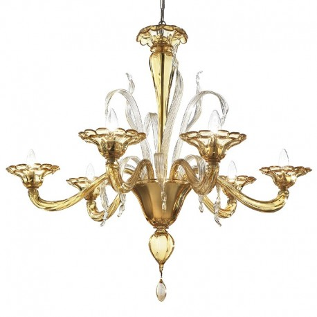 Colombina 6 lights Murano chandelier