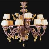"""Edgar"" Murano glass chandelier with lampshades"