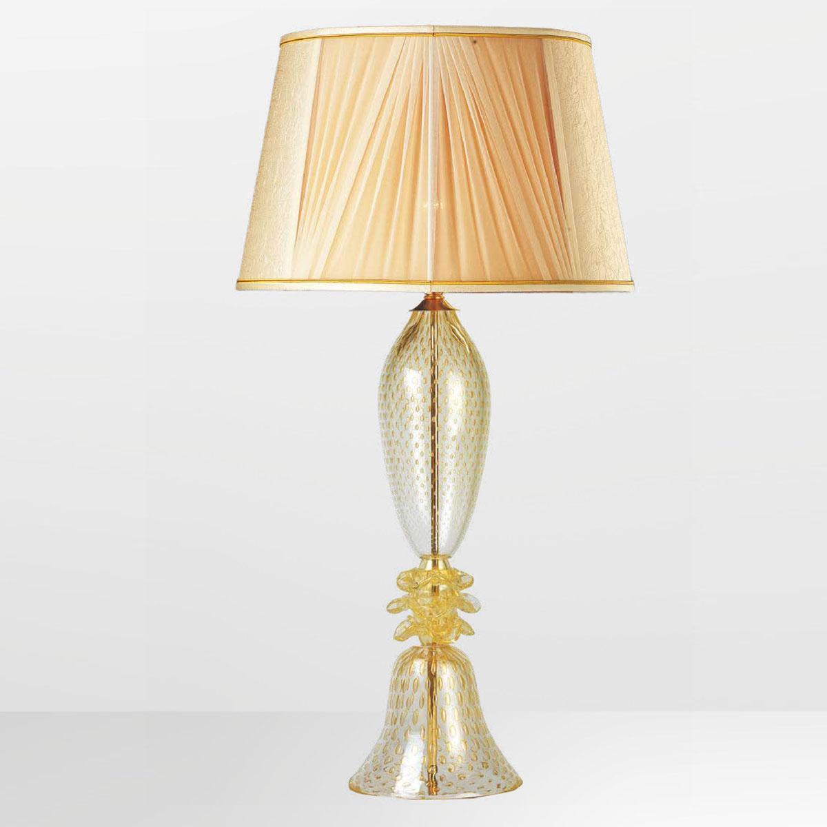"""Horace"" Murano glass table lamp - 1 light - gold"