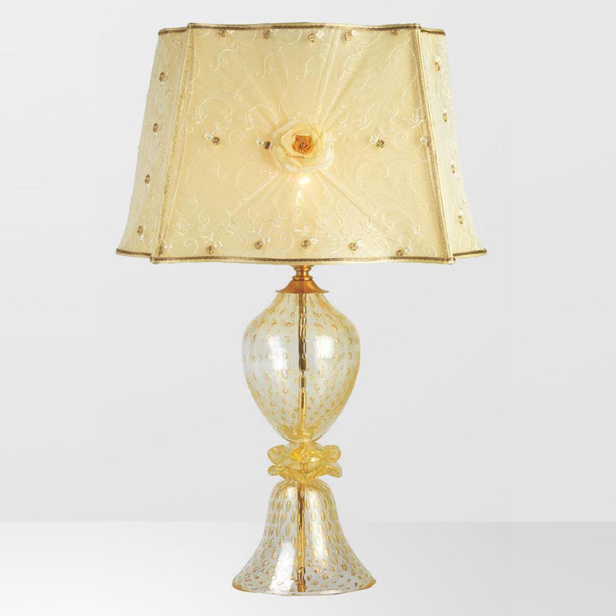 """""""Horace"""" lampara de mesita de noche de Murano - 1 luce - oro"""
