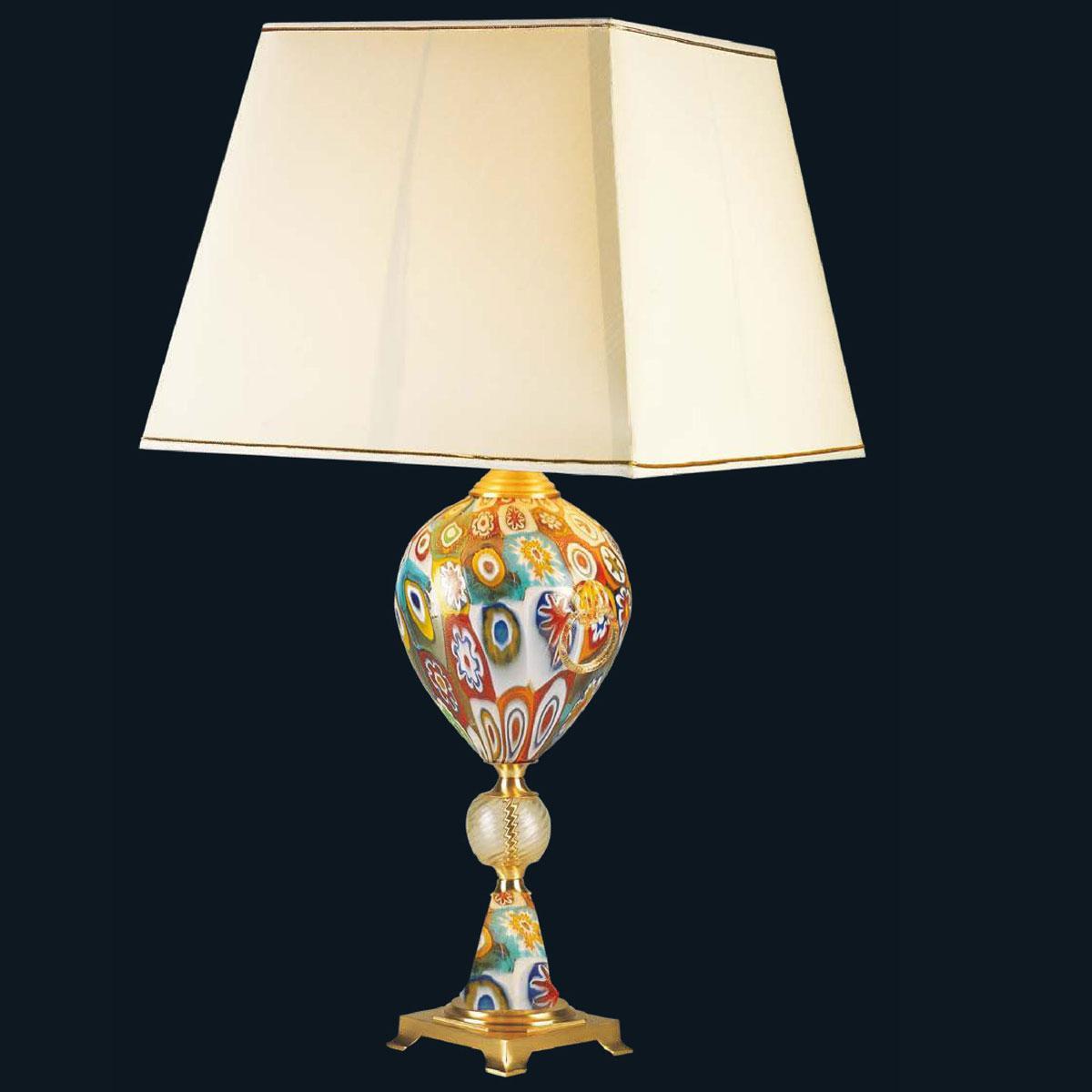 """Giselle"" Murano glass table lamp - 1 light - multicolor"