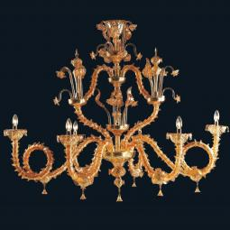 """Alec"" Murano glass chandelier"