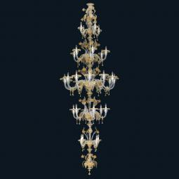 """Rachelle"" Murano glass chandelier"
