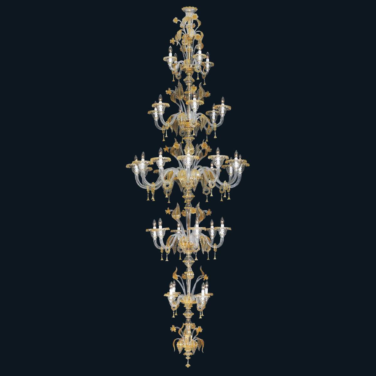 """""""Rachelle"""" lustre en cristal de Murano - 32 lumières -"""
