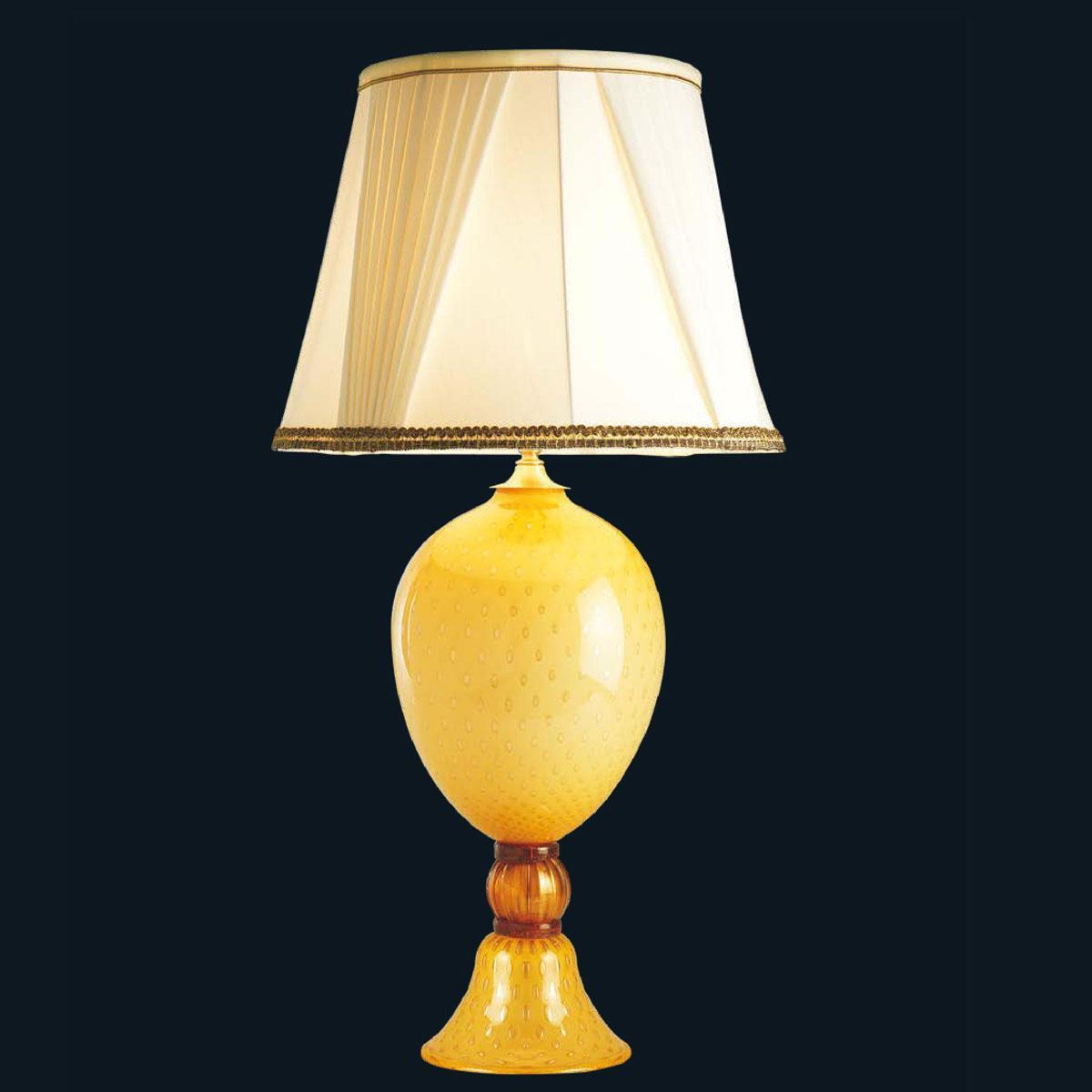 """""""Juanita"""" lampe de table en verre de Murano - 1 lumière - ambre"""