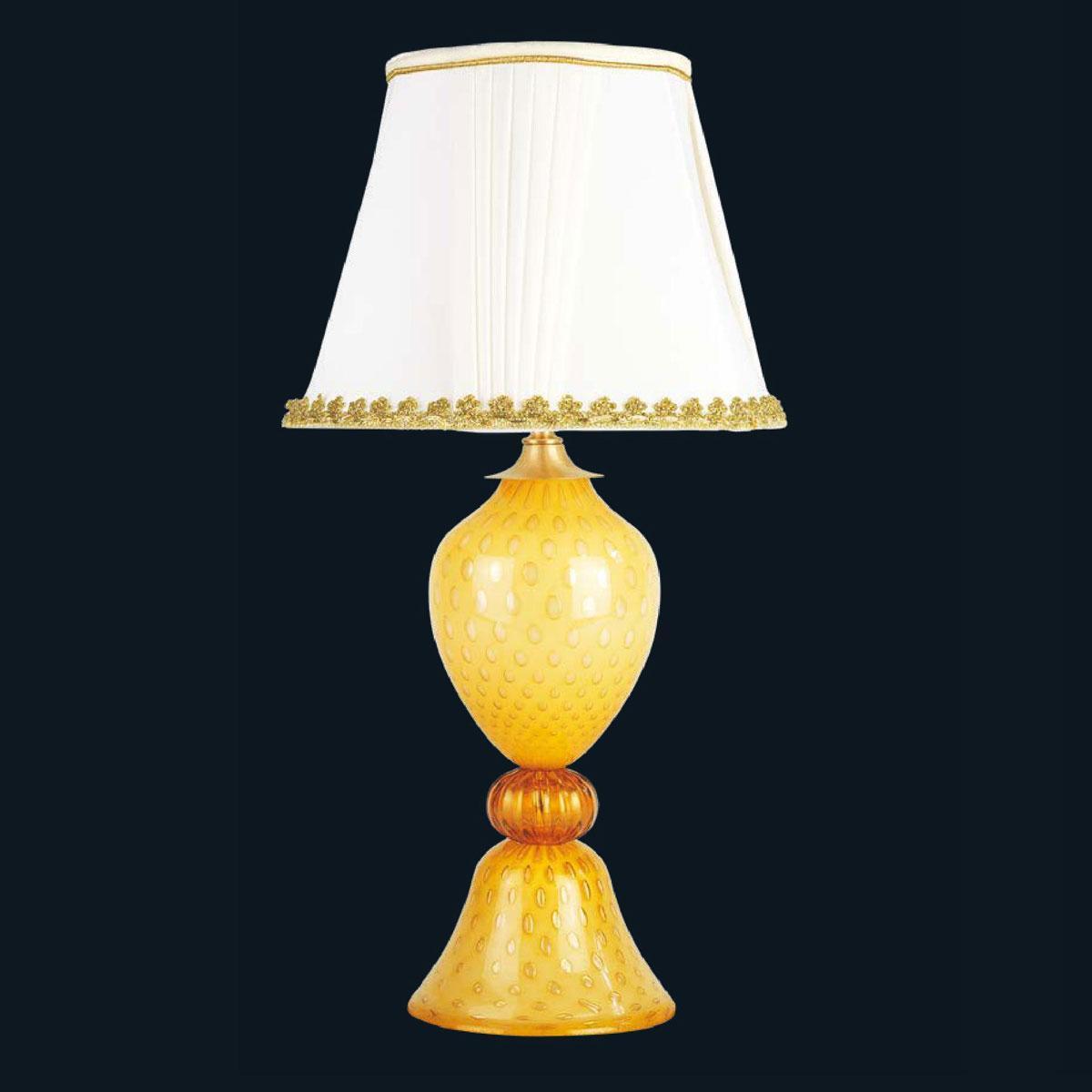 """Juanita"" Murano glass bedside lamp - 1 light - amber"