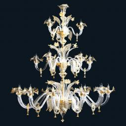 """Harvie"" Murano glass chandelier"