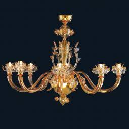 """Layla"" Murano glass chandelier"