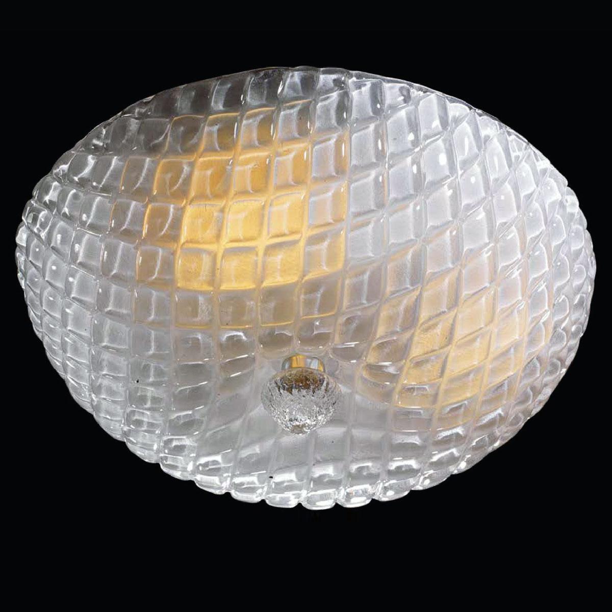 """""""Selah"""" lampara de techo de Murano - 3 luces - transparente"""