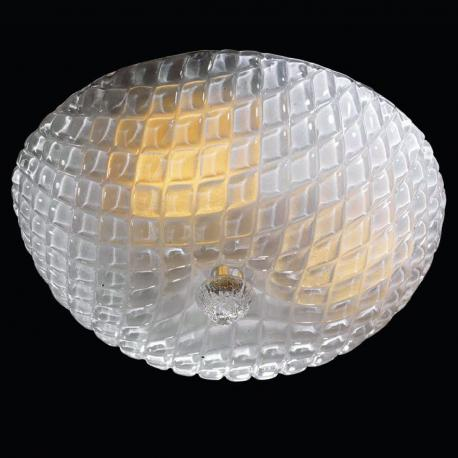 """Selah"" Murano glass ceiling light - 3 lights - transparent"
