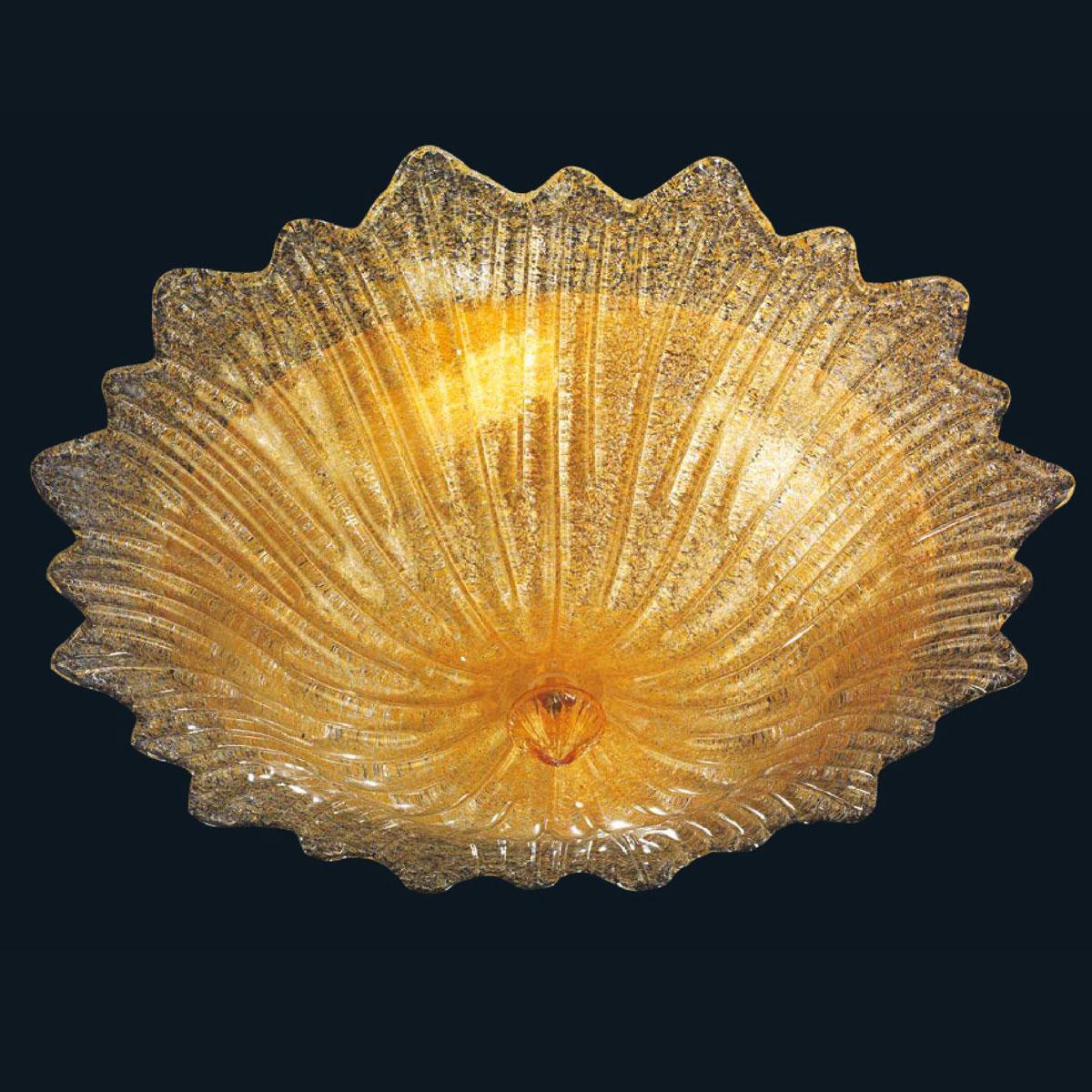 """Camille"" plafonnier en verre de Murano - 3 lumières - ambre"