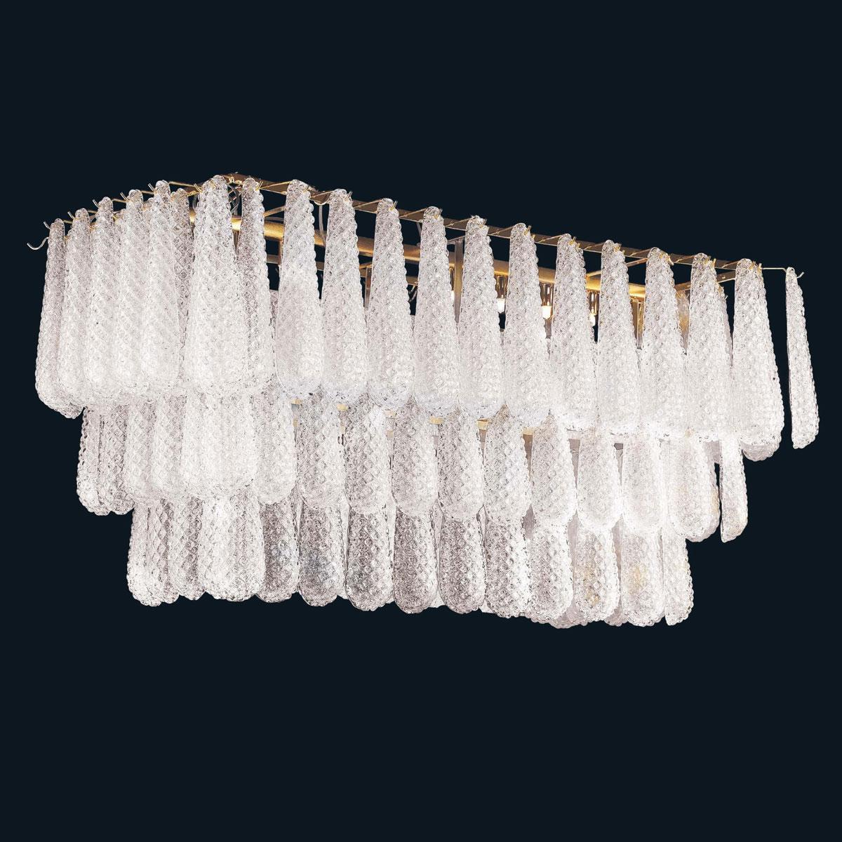 """""""Jaslyn"""" Murano glas hangeleuchte - 8 flammig - transparent"""