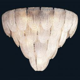"""Janae"" Murano glass pendant light - 13 lights - transparent"