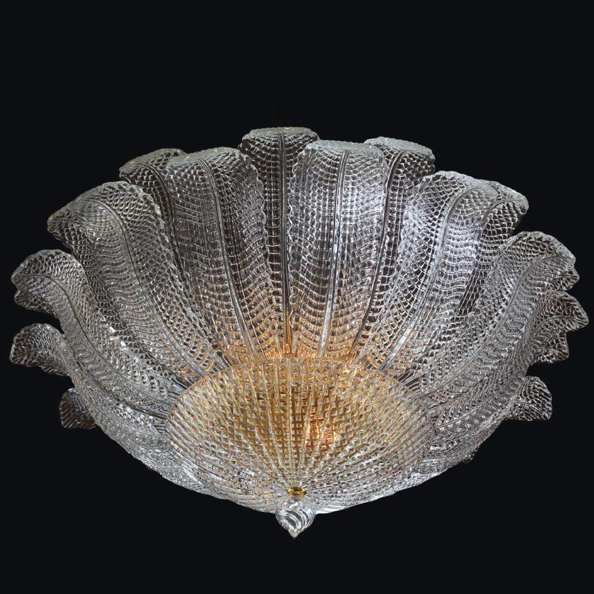 """Yara"" Murano glass ceiling light - 6 lights - transparent"