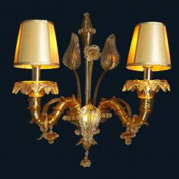 """Honey"" Murano glass sconce"