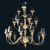 """Lillie"" Murano glass chandelier with lampshades"