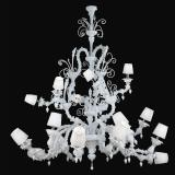 """Theodore"" Murano glass chandelier with lampshades"