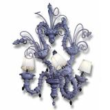 """""""Theodore"""" Murano glass sconce with lampshades - 3 lights - amethyst"""