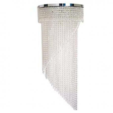 """""""Shelly"""" Murano glass sconce - 5 lights - transparent"""