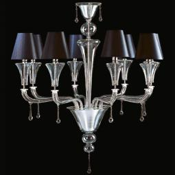 """Elliott"" Murano glass chandelier with lampshades"