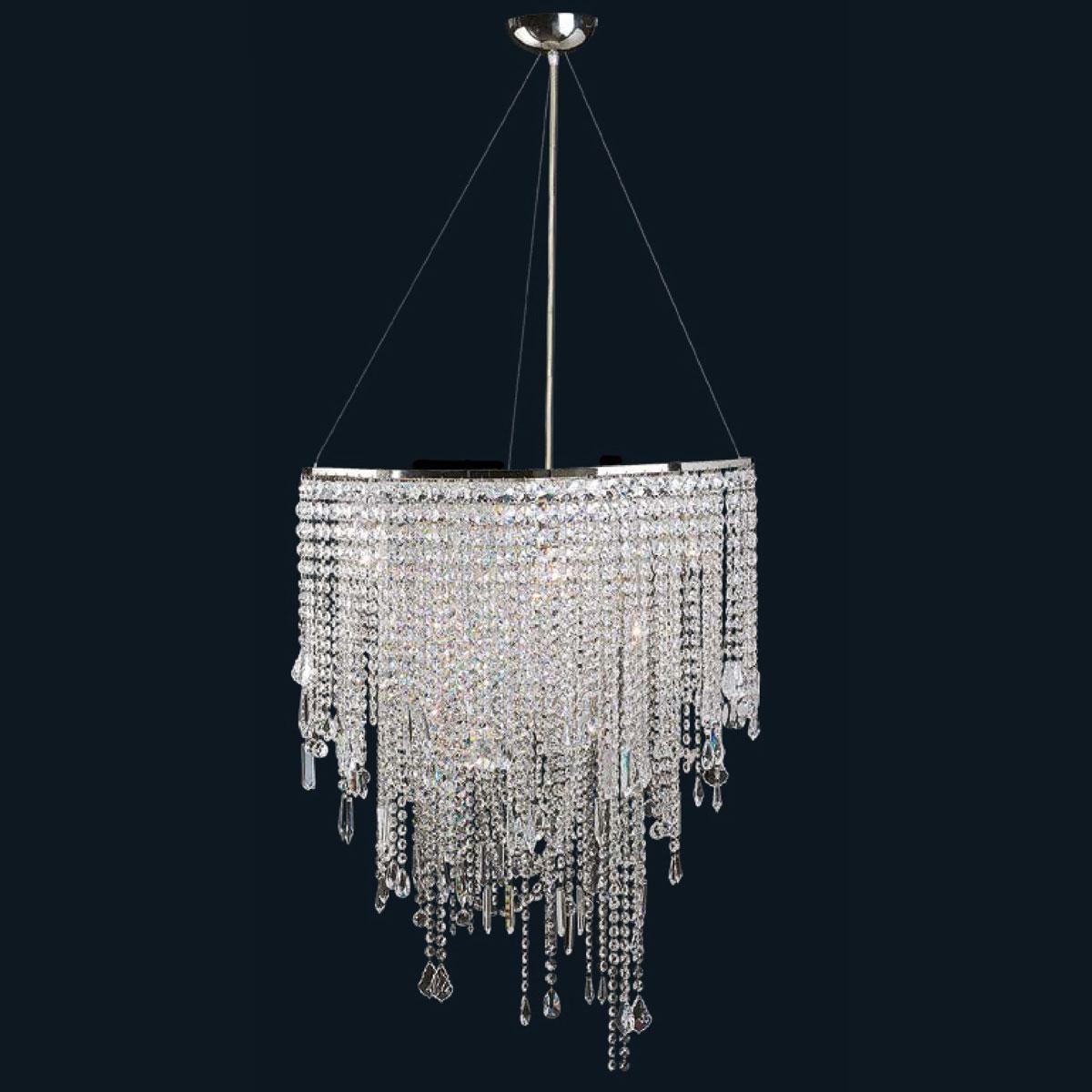 """Maddiso"" Murano glass pendant light - 7 lights - transparent"