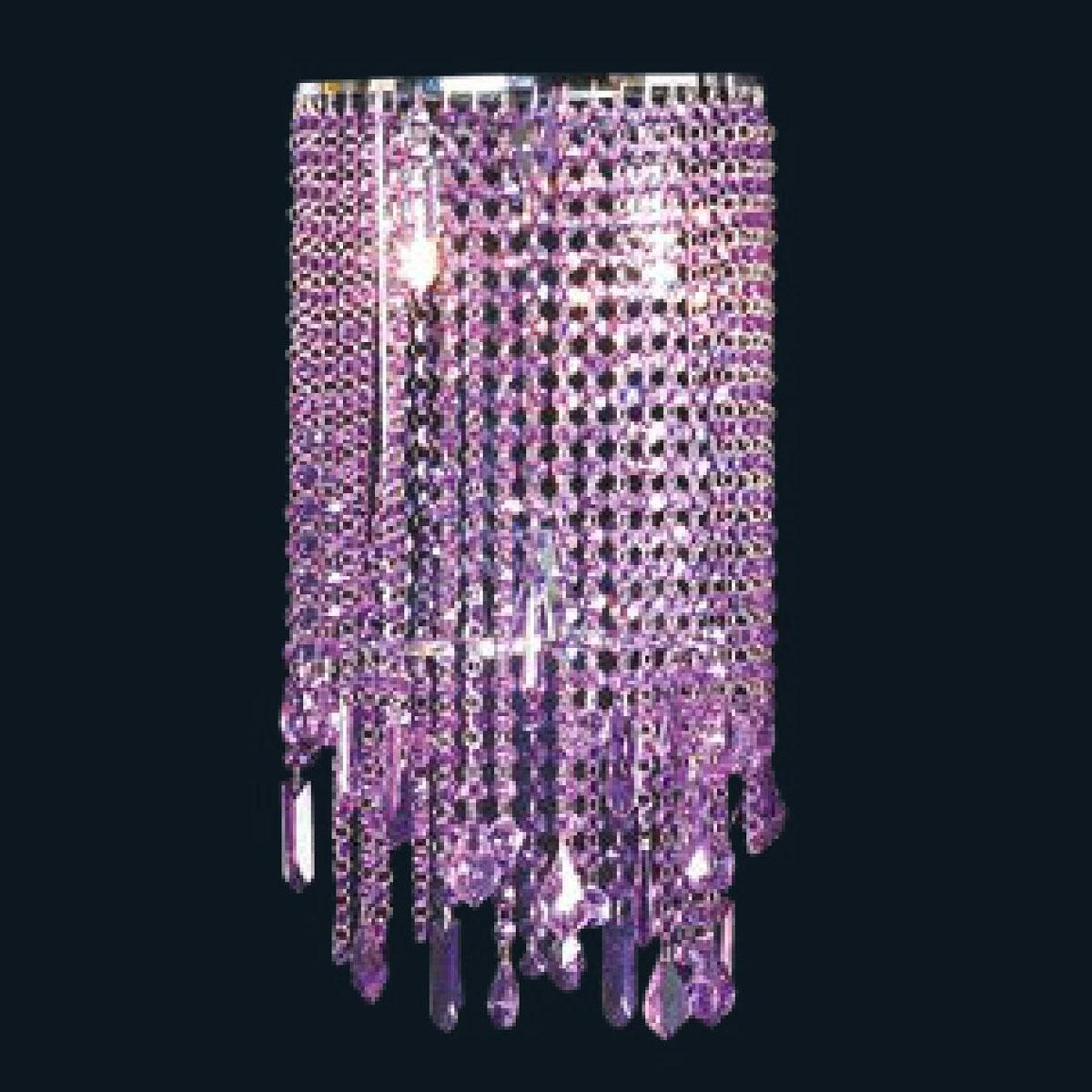 """Maddison"" Murano glass sconce - 2 lights - amethyst"