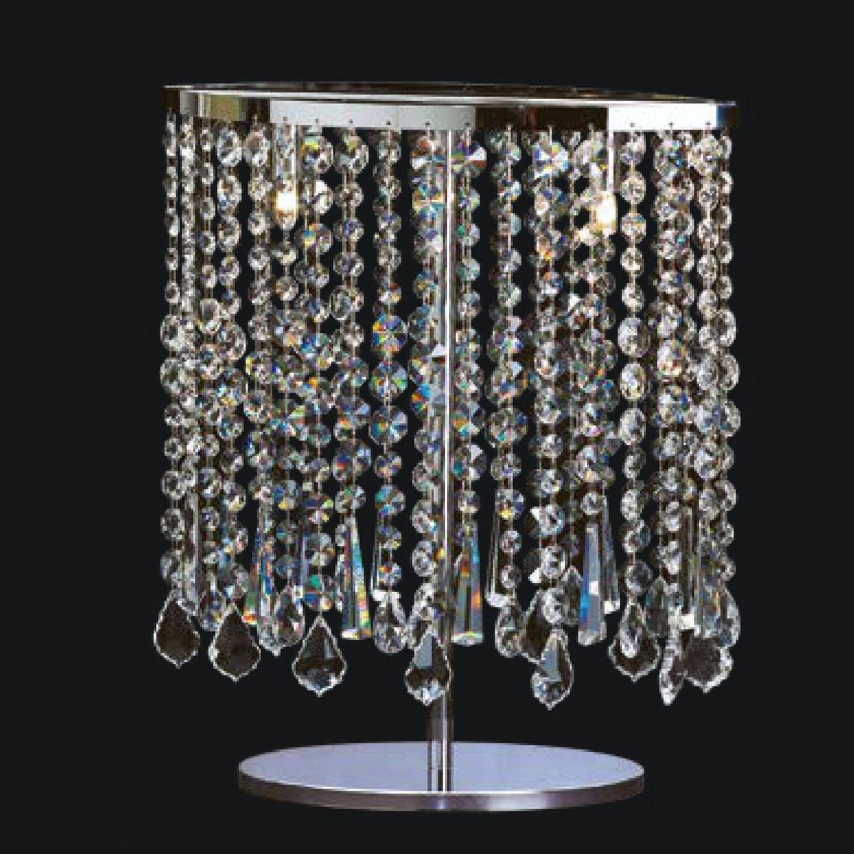 """Taran"" Murano glass table lamp - 2 lights - transparent"