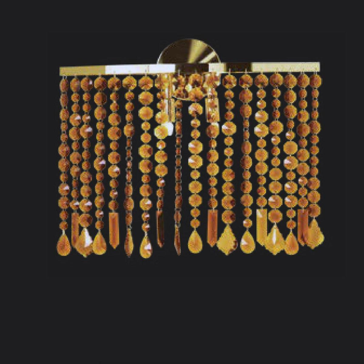 """""""Aspen"""" Murano glass sconce - 2 lights - amber"""