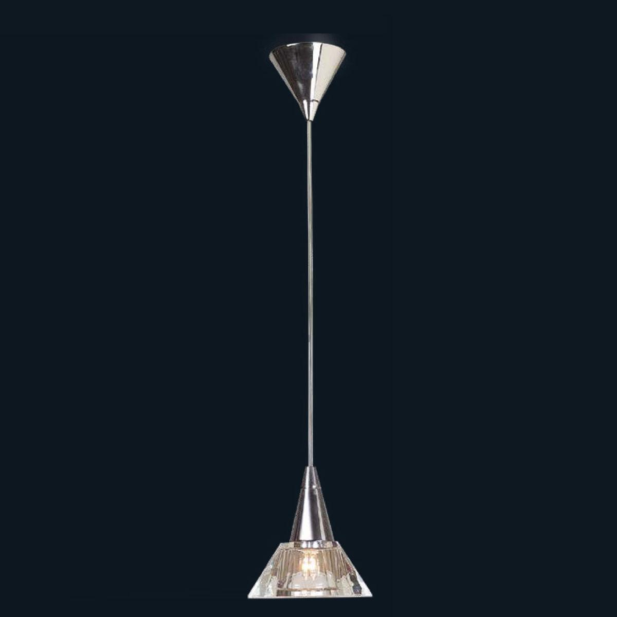 """Tianna"" Murano glass pendant light - 1 light - transparent"