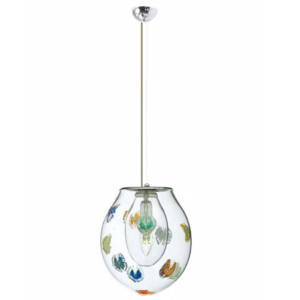 """""""Lorelei"""" Murano glass pendant light - 1 light - multicolor"""