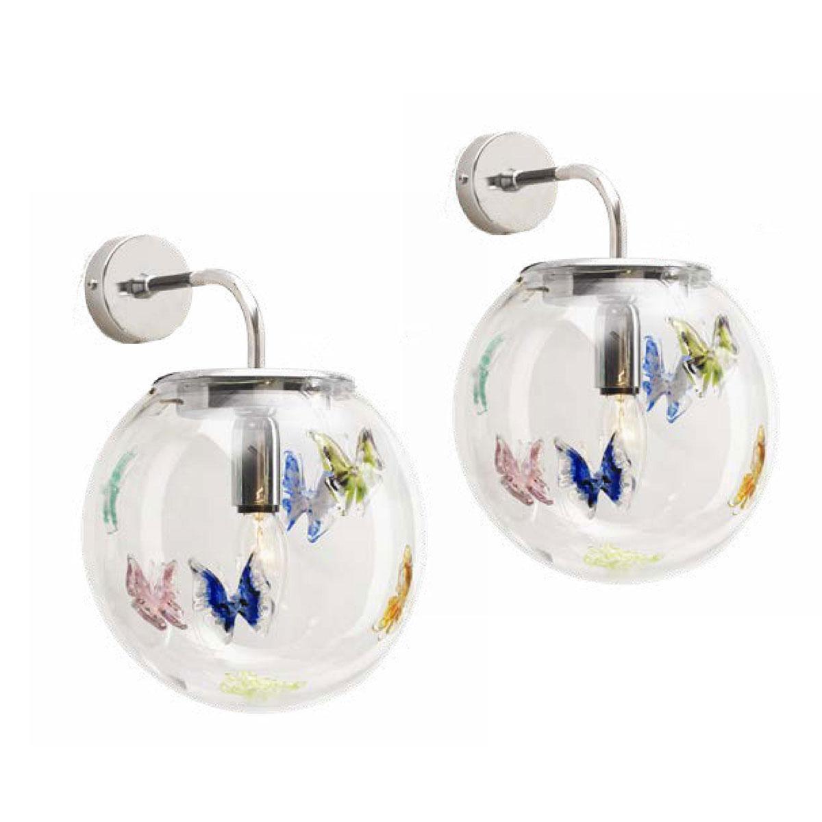 """Lorelei"" Murano glass sconce - 1 light - multicolor"
