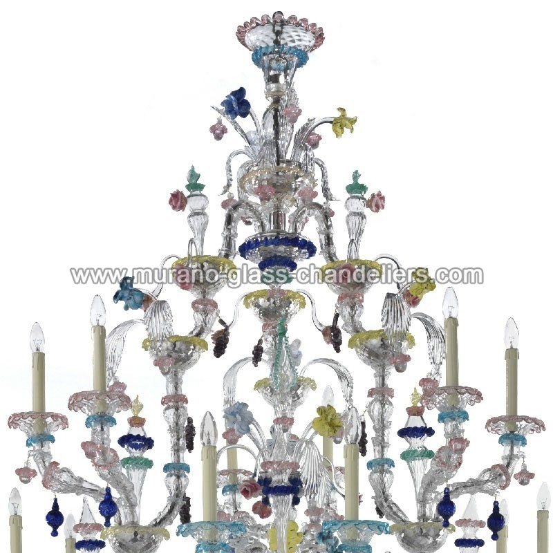 aurora 24 lumi res classique lustre murano murano glass chandeliers. Black Bedroom Furniture Sets. Home Design Ideas