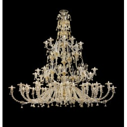 """Magnifico"" large three tier Murano glass chandelier oval shape"