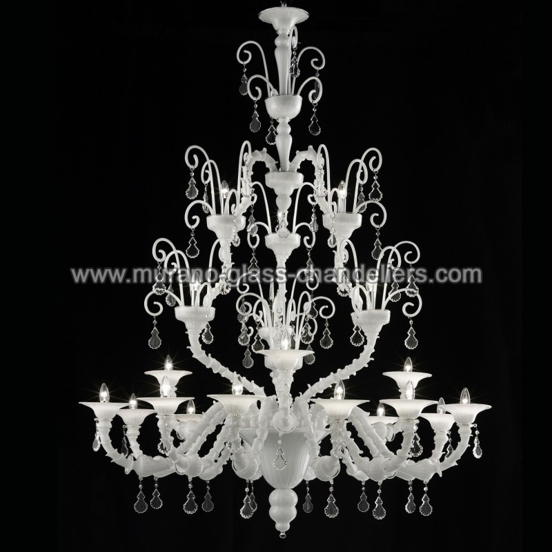 inverno lustre blanc en verre de murano murano glass. Black Bedroom Furniture Sets. Home Design Ideas