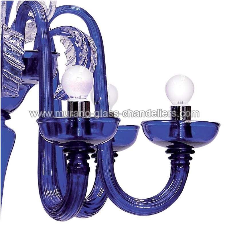 cascata lustre bleu en verre de murano murano glass chandeliers. Black Bedroom Furniture Sets. Home Design Ideas