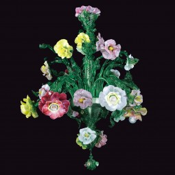 "Jeanne - custom ""Giardino"" Murano glass chandelier"