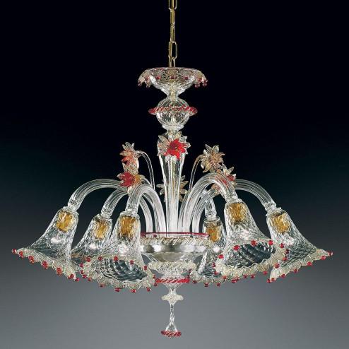 "Weber - ""Rosalba"" lustre en cristal de Murano"