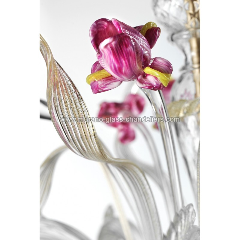Delizia pink flowers murano glass wall sconce murano glass delizia 2 lights pink flowers murano glass wall sconce aloadofball Gallery